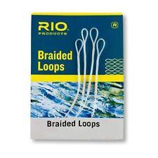 (0,18€/m) RIO Braided Loops Schlaufenverbindung Fliegenvorfach verbinder 4 Stück