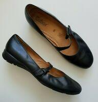 Gabor Womens Leather Mary Jane Strap Black Comfort Shoes Size 8.5 UK/ 10-10.5 US