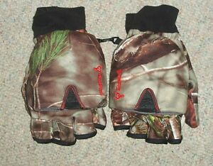 HUNTWORTH camouflage pop top mittens / gloves w/ heat pack pocket  , XL , New
