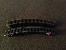 "Lot Of 20 HO Tyco 18"" R Curved Brass Train Track Sections Slightly Used!"