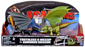TOOTHLESS & HICCUP VS ARMORED DRAGON DEFENDERS BERK TRAIN YOUR DRAGON 3 PACK