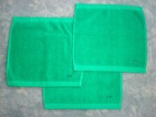 3 GREEN LACOSTE WASH TOWELS