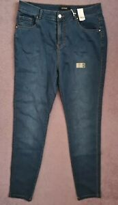 LADIES BLUE STRETCH JEANS FROM EVANS SIZE 18 INSIDE LEG 31 INCHES