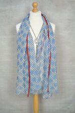 New PEACE OF MIND Blue geometric print pashmina scarf