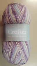 Sirdar Snuggly Crofter Baby Fair Isle 4 Ply #151 Keltie Purple Blue White Mix