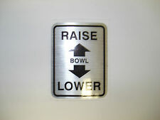 HOBART MIXER M802 V1401 BOWL LIFT INSTRUCTION DECAL WITHOUT FACTORY BOWL GUARD