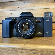 Ricoh XR- X Multi Program 35mm Slr Film Camera + 1:2 50mm Lens Working Lomo!
