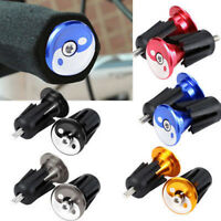 AS_ 1PAIR ALUMINUM ALLOY HANDLEBAR GRIPS BAR END PLUGS CAP FOR MTB BIKE CYCLING