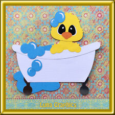 DUCK IN TUB  Embellishment card toppers & scrapbooking