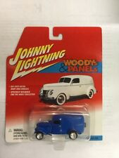 JOHNNY LIGHTNING 1:64 SCALE WOODYs & PANELS 1933 WILLYS PANEL VAN (BLUE)