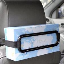 Car Tissue Paper Box Napkin Case Holder Black Sun Visor Back Seat Organiser New