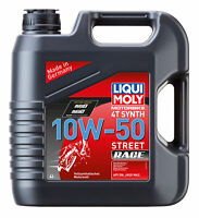 Liqui Moly Germany - Motorbike Oil 4T Synth 10W-50 Street Race 4lt - LM1686