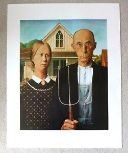 GRANT WOOD American Gothic   ART POSTER PRINT