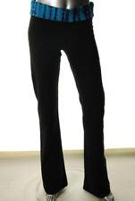 New FAMOUS CATALOG Fold Over Black  Pull On Yoga Pants Misses Women Sz L
