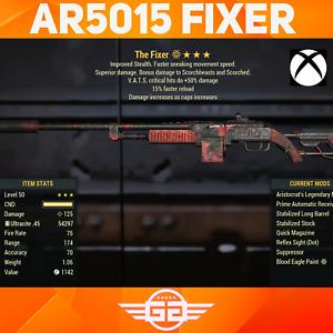 Aristocrats 50 Crit Faster reload Fixer - AR5015 - AR/50/15 - Fallout76 [XBOX]