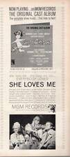 "1963 Mgm Records Recording of ""She Loves Me!"" Print Ad"