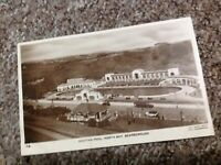 1938c  BATHING POOL SCARBOROUGH RP Real PHOTO EMPIRE VINTAGE POSTCARD