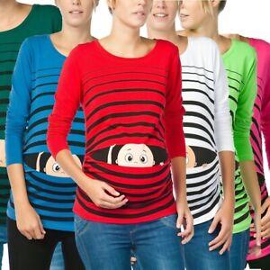 Umstandsmode Sweatshirt Motiv Schwangerschaft Geschenk Guck Guck Süßen Aufdruck