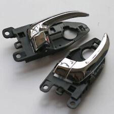 Inner Door Handle Left Right Pair Black For Hyundai Accent 2006-2011