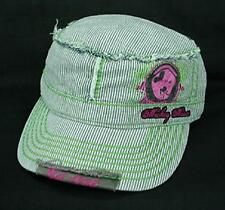Mickey Mouse Gray Striped Military Cap NEW