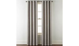 (1) JCPENNEY JCP Home Sullivan SOLID OXIDE GRAY Blackout Grommet Curtain 50 X 84