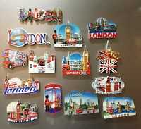 3D Ceramic London British England ICONS Souvenir Fridge Magnets Multipack UK