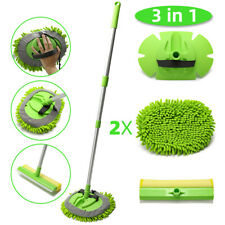 3 in 1 Chenille Microfiber Car Wash Brush Mop Mitt with 45