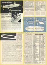 Bauplan Tragflügelboot DELPHIN Hydrofoil mit Luftschraubenmotor - Orig. von 1958