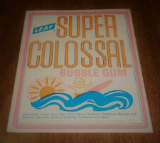 Vintage Gumball Machine Topper Card Sign Super Colossal Bubble Gum 5x4 - Surfing