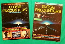 Vintage Lot of 2 Close Encounters of the Third Kind Official Poster & Magazine