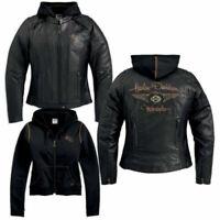 Harley Davidson Women's 110th Anniversary Black Leather Jacket M 97148-13VW Rare