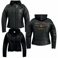 Harley Davidson Womens 110th Anniversary Black Leather Jacket 1W 97148-13VW Rare
