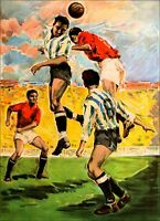 Football Spain 1963  Soccer Vintage Poster Print Retro Style Art Sports Travel