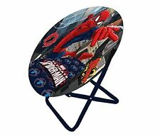 Disney Moon Chair Spiderman, Folding Round Soft Padded Chair for toddlers, kids