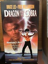 The Dragon and the Cobra (VHS) 1980 martial arts with Bruce Lee-Fred Williamson