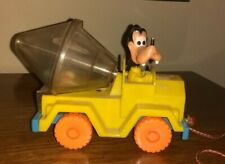 Disney Vintage Goofy Cement Mixer Pull Toy