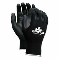Mcr Safety Economy Pu Coated Work Gloves, Black, X-Small, 1 Dozen