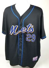 New York Mets Baseball Jersey Ike Davis# 29 Majestic Size 54 Black and Blue