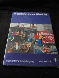 RAR, 3 Hefte und Beilagenblätter, WESTERMANN FIBEL 74, Druckschrift, OVP