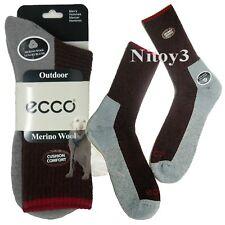 ECCO Ribbed Hiking Boot Socks - Merino Wool, Crew Men Large 10-13