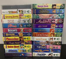 24 Disney VHS Bundle - Walt Disney Video Tapes - Classic Vintage Films + Modern