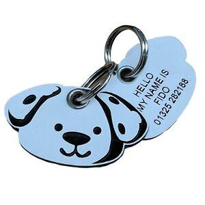 Plastic Shaped Dog Tags 40mm x 22mm