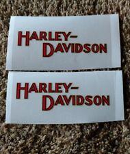 2 Small Old  School Harley Davidson Tank Decals