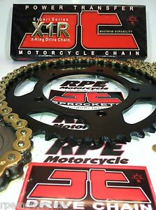 03-05 TRIUMPH 650 DAYTONA JT GOLD 520 QUICK ACCEL or OEM CHAIN AND SPROCKETS KIT