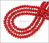 """16"""" Red Bamboo Coral Rondelle Roundel Beads 5mm #63066"""