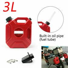 Motorcycle 3L Portable Jerry Can Gas Plastic Car Fuel Tank Petrol ATV&UTV Gokart