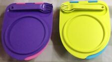 Tupperware  Divided Dish with Attractive Lid including Spoon n fork-New set of 2