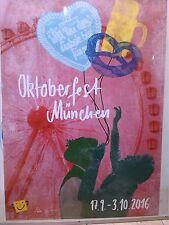 2016 Original Plakat Poster Oktoberfest München Wiesn DIN A1