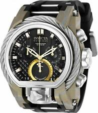 Invicta Reserve 26442 Men's Chronograph Dual Time Date Black Silicone Watch