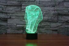 Egypt Pharaoh 3D Night Light 7 Colors Changing LED Table Lamp Gift